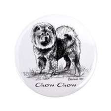 """Chow Chow 3.5"""" Button"""