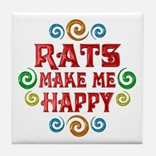 Rat Happiness Tile Coaster