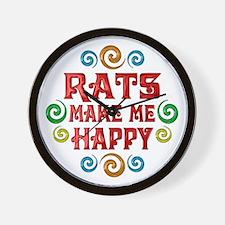 Rat Happiness Wall Clock