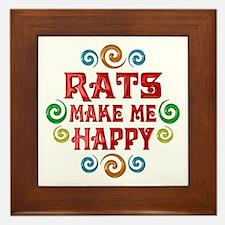 Rat Happiness Framed Tile
