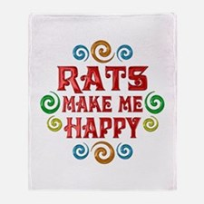 Rat Happiness Throw Blanket