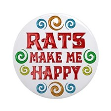 Rat Happiness Ornament (Round)