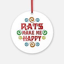 Rat Happiness Ornament (Round)
