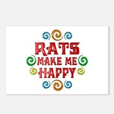 Rat Happiness Postcards (Package of 8)