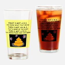 PHD GIFTS HUMOR PRESENTS Pint Glass