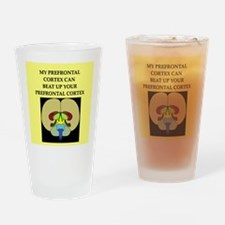 funny neuroscience joke Pint Glass