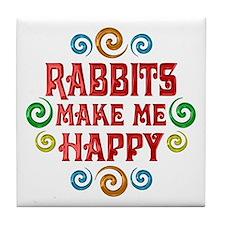 Rabbit Happiness Tile Coaster