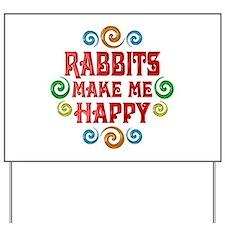 Rabbit Happiness Yard Sign