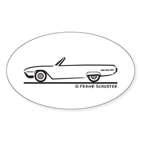 1962 Ford Thunderbird Convertible Sticker (Oval)