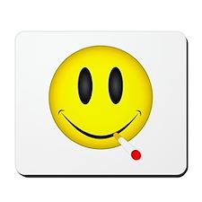 Smoking Smiley Face Mousepad