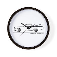 1962 Ford Thunderbird Hard Top Wall Clock