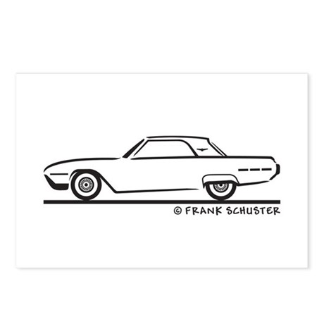 1962 Ford Thunderbird Hard Top Postcards (Package