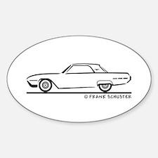 1962 Ford Thunderbird Hard Top Sticker (Oval)