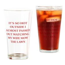 funny joke for men Pint Glass