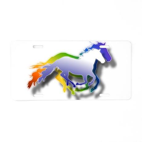 3D Running Horses Aluminum License Plate