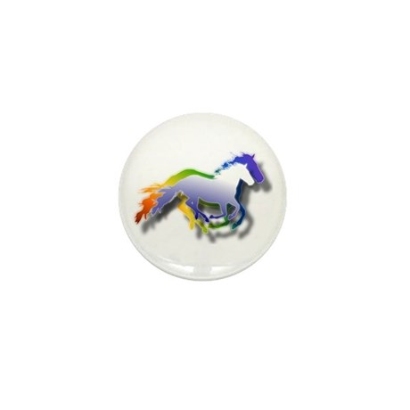 3D Running Horses Mini Button (100 pack)