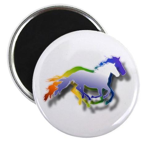 """3D Running Horses 2.25"""" Magnet (10 pack)"""