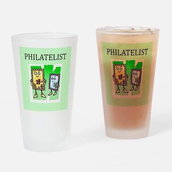 philatelist gifts t-shirts Pint Glass