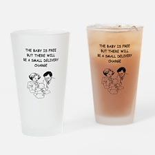 obstetrician joke Pint Glass