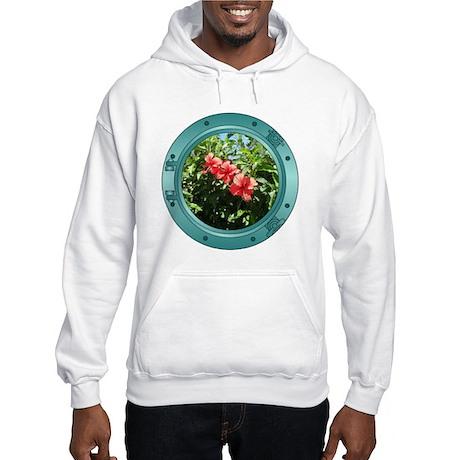 Hibiscus Porthole Hooded Sweatshirt