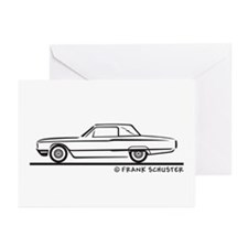 1964 Ford Thunderbird Landau Greeting Cards (Pk of