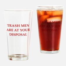 trash man joke Pint Glass