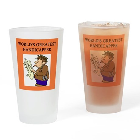 horse racing gifts t-shirts Pint Glass