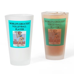 volleyball gifts t-shirts Pint Glass