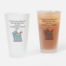 funny bingo joke Pint Glass