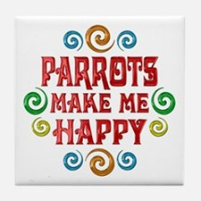 Parrot Happiness Tile Coaster