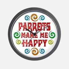 Parrot Happiness Wall Clock