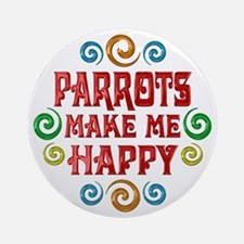 Parrot Happiness Ornament (Round)