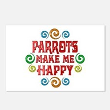 Parrot Happiness Postcards (Package of 8)