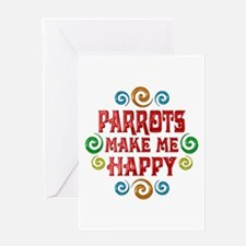 Parrot Happiness Greeting Card