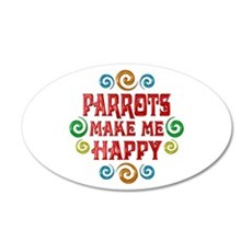 Parrot Happiness 22x14 Oval Wall Peel