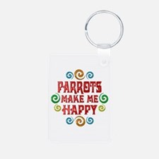 Parrot Happiness Keychains