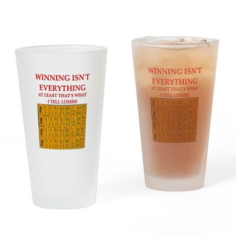mahjong Pint Glass