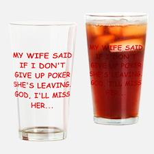 funny poker Pint Glass