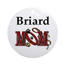 Briard Mom Ornament (Round)