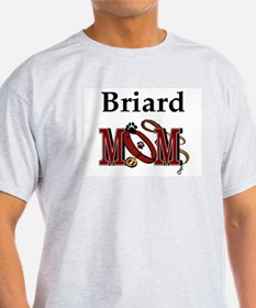 Briard Mom Ash Grey T-Shirt