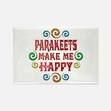 Parakeet Happiness Rectangle Magnet
