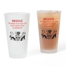 duplicate bridge player joke Pint Glass
