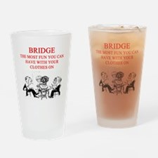 duplicate bridge player joke Pint Glass