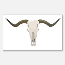 Longhorn Skull Symbol Sticker (Rectangle)