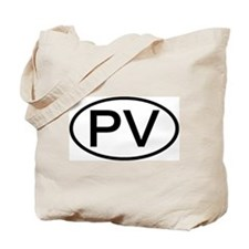 PV - Initial Oval Tote Bag