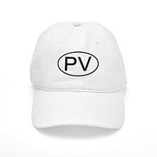 PV - Initial Oval Baseball Cap