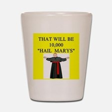 catholic joke Shot Glass