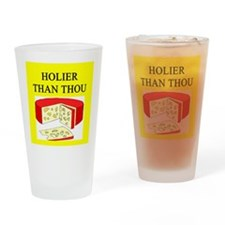 christian cheese joke Pint Glass