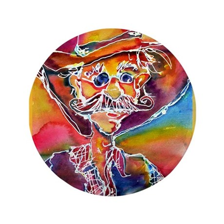 "Cowboy, bright, 3.5"" Button (100 pack)"