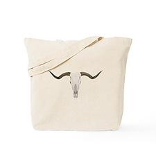 Longhorn Skull Symbol Tote Bag